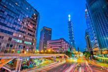 Taipei City Center At Night