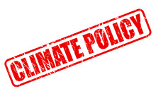 CLIMATE POLICY Red Stamp Text
