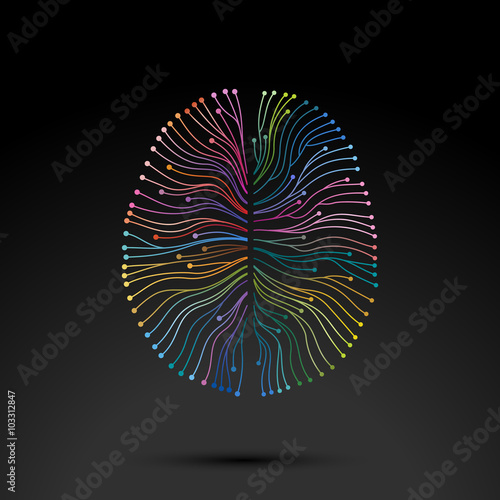 Fotografia  Creative concept of the mind, vector illustration