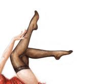 Long Pretty Woman Legs Wearing...