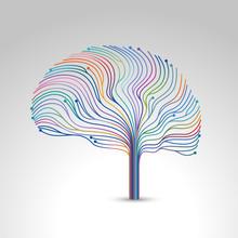 Creative Concept Of The Brain, Vector Illustration
