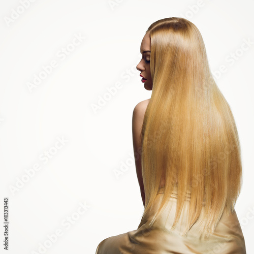 Fotografie, Obraz  Girl with long hair
