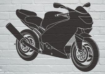FototapetaStreet art, moto