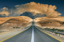 Road In Desert Of The Negev, Israel