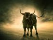 canvas print picture - Der Stier