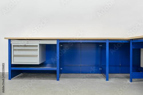Fotografie, Obraz  Workbench on white background