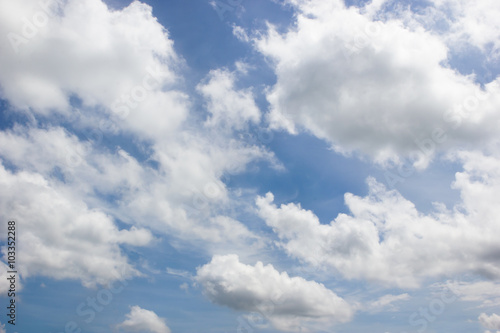 Canvas Prints Heaven Beautiful blue sky and white clouds.