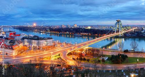 Foto op Canvas Berlijn Bratislava Bridge - Slovakia