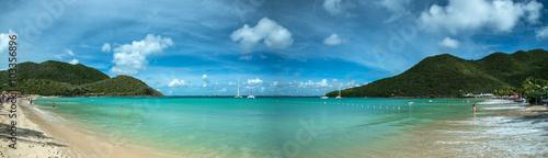 Deurstickers Tropical strand Saint Martin beach, Caribbean sea