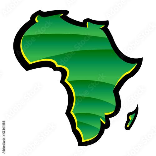 Fotografie, Obraz  Map of Africa
