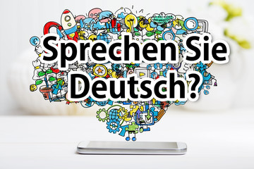 FototapetaSprechen Sie Deutsch message with smartphone
