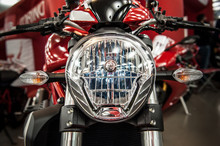 Headlight Of A Modern Motorcycle