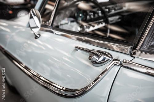 Poster Vintage voitures Vintage chrome car