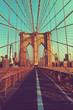 Deserted Brooklyn Bridge Pedestrian Pathway