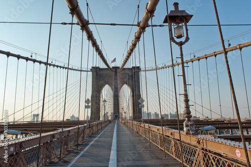 Fototapety, obrazy: Deserted Brooklyn Bridge Pedestrian Walkway