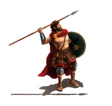 Spartan With Spear, Character ...