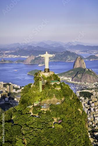 Cadres-photo bureau Rio de Janeiro Aerial view of Botafogo Bay, Rio de Janeiro, Brazil