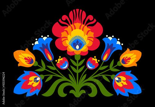 Tapety Ludowe  polskie-kwiaty-inspirowane-folklorem-na-czarnym-tle