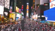 Buildings Crowd Night Times Square New York City Street People Manhattan USA Illuminated Tourism Tourists Famous Footage Busy Travel Timelapse
