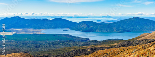 Fotografie, Tablou  View of Lake Taupo and Lake Rotoaira in New Zealand