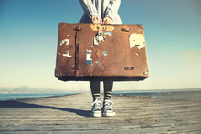 Young Woman Ready To Travel Wi...