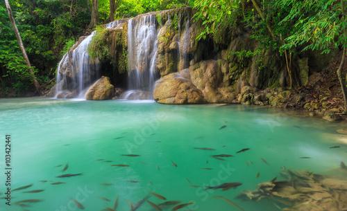 Fototapety, obrazy: Waterfall erawan