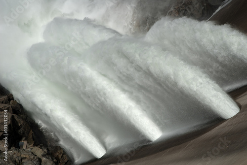 Acrylic Prints Dam O'Shaughnessy Dam at Hetch Hetchy Reservoir in Yosemite National Park. The source of water for San Francisco, CA.