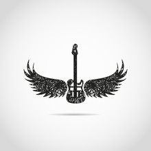 Music Background With Rock Guitar