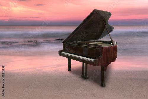 Zdjęcie XXL Fortepianowy outside strzelający przy plażą