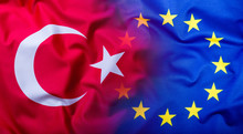 Flags Of The Turkey And The Eu...