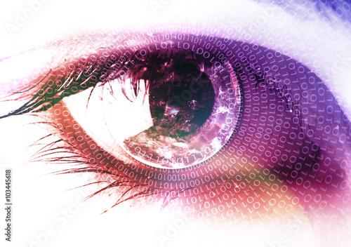 Türaufkleber Makrofotografie Earth in the eye