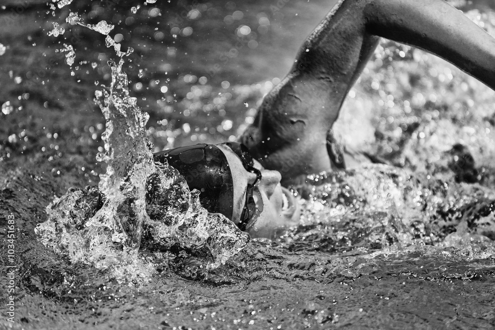 Fototapeta Swim action shot