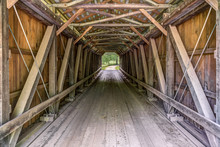 Inside Foraker Covered Bridge