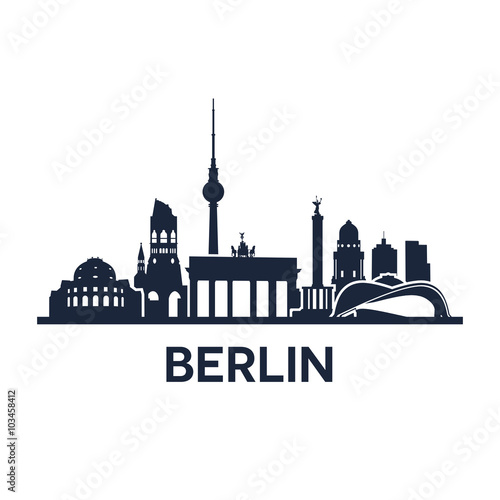 Berlin City Skyline Wallpaper Mural