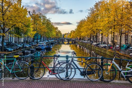 Deurstickers Amsterdam Amsterdam im Herbst