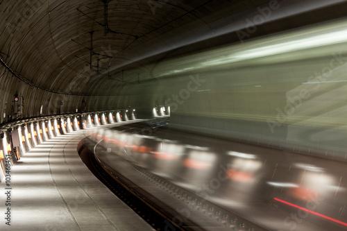 Fotografie, Obraz  subway speed blur background