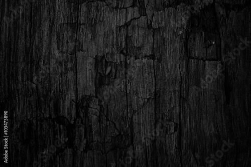 Fotografia  Black wooden texture background blank for design