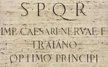 Latin Inscription Of Roman Emp...