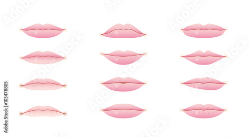 Cuadros en Lienzo 唇の形