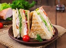 Club Sandwich With Cheese, Cuc...