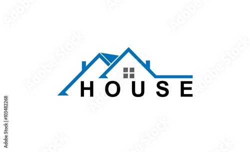Stampa su Tela roof house business logo