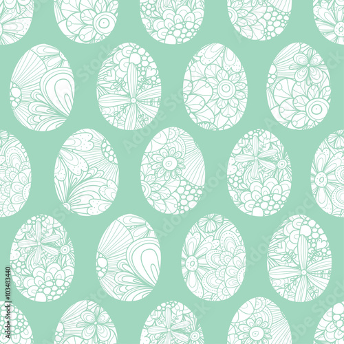 Cotton fabric Easter egg seamless vector pattern.