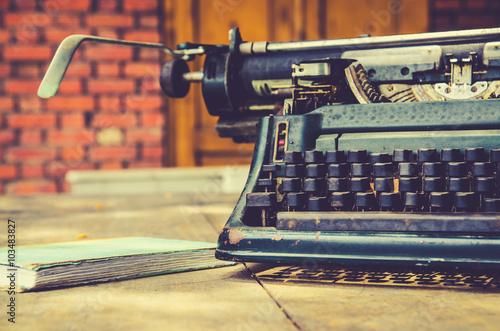 Poster Retro close up of typewriter vintage retro styled