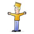 cartoon man wearing crown