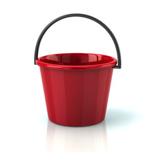 Illustration Of Red Bucket
