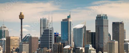 Canvas Prints Sydney Panoramic view at Sydney city urban skyline