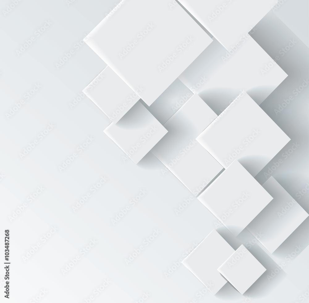 Fototapeta Abstract geometric shape from gray rhombus