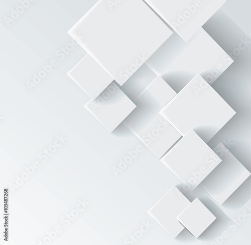 Photographie Abstract geometric shape from gray rhombus