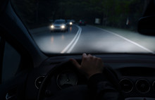 Driving At Night With A Car Wi...