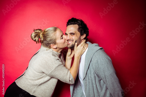 Valokuva  Couple together in Studio having fun